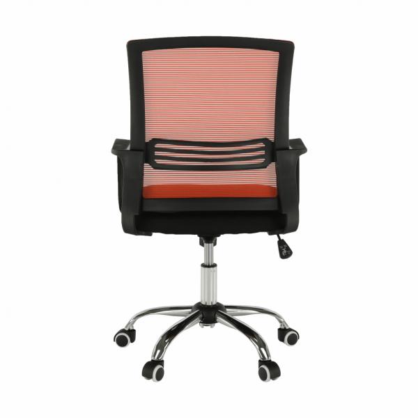 Scaun de birou, mesh portocaliu/material textil negru, APOLO - Expomob 4