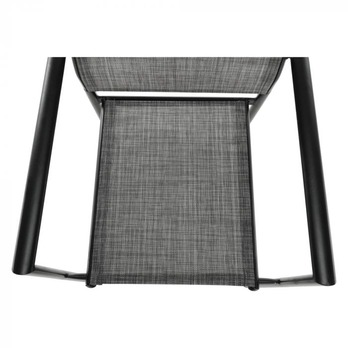 Scaun de grădină, gri/negru, TELMA - Expomob 8