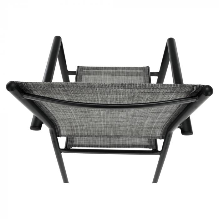 Scaun de grădină, gri/negru, TELMA - Expomob 11