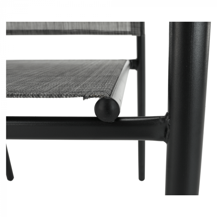 Scaun de grădină, gri/negru, TELMA - Expomob 10
