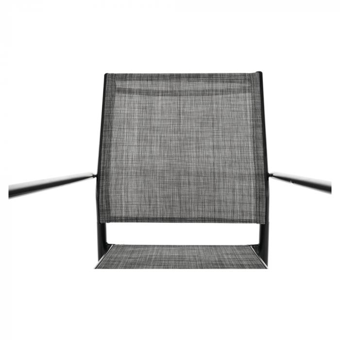 Scaun de grădină, gri/negru, TELMA - Expomob 7