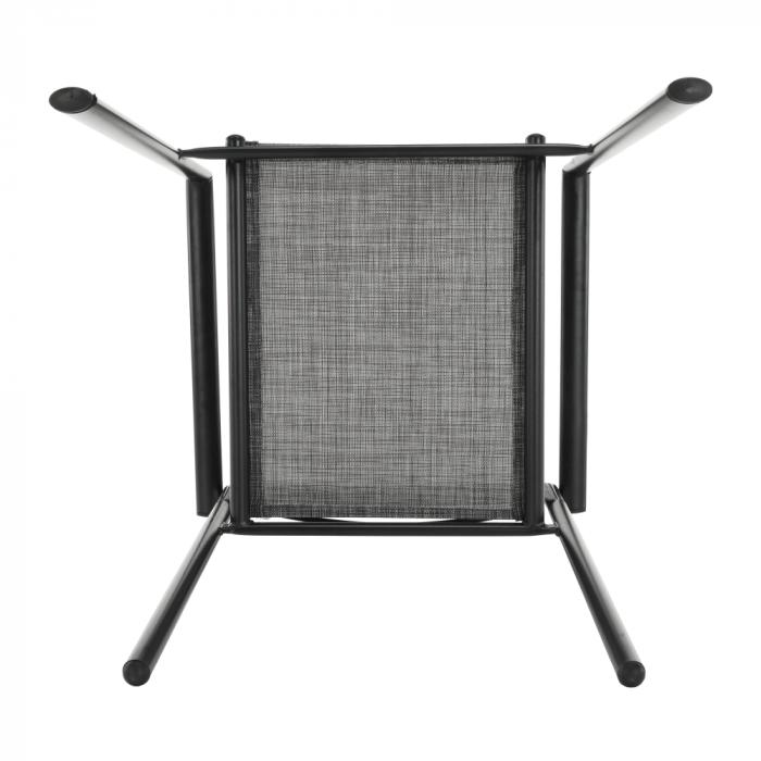 Scaun de grădină, gri/negru, TELMA - Expomob 13