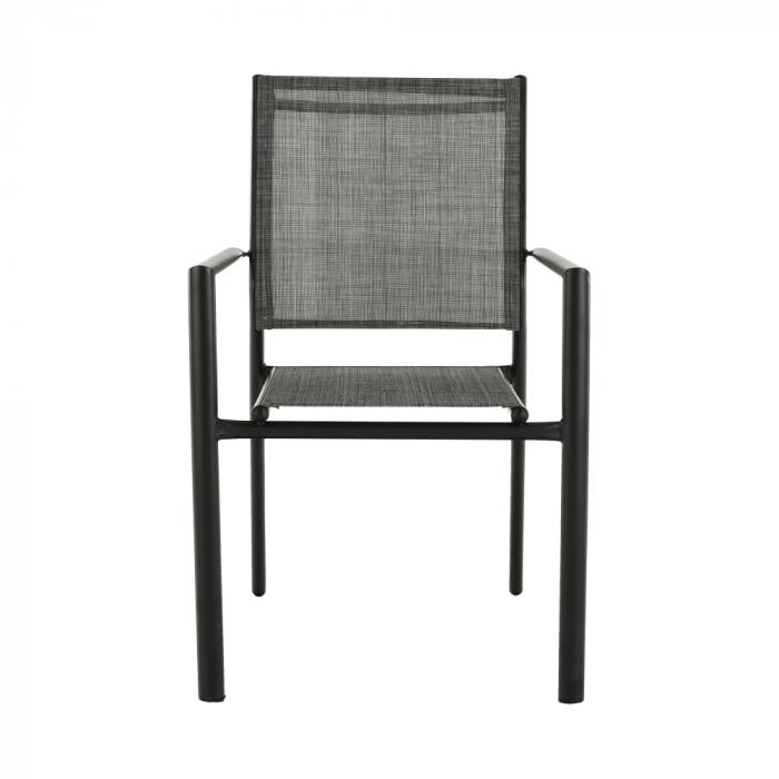 Scaun de grădină, gri/negru, TELMA - Expomob 2