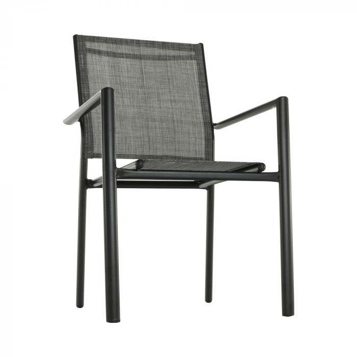 Scaun de grădină, gri/negru, TELMA - Expomob 1