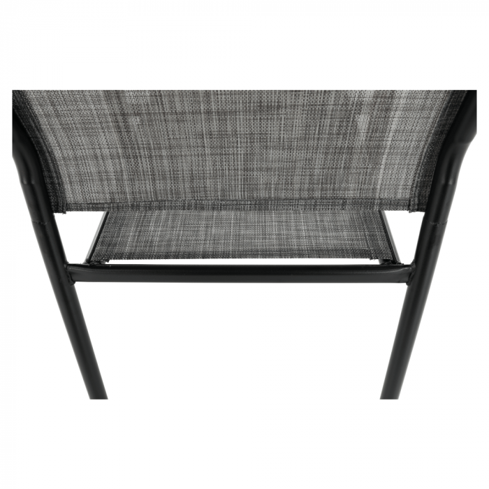 Scaun de grădină, gri/negru, TELMA - Expomob 12