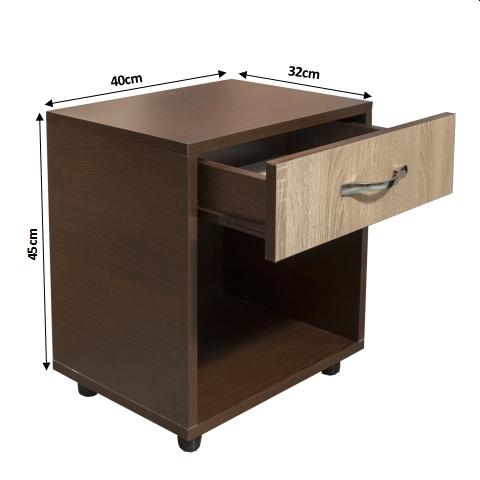 Set Dormitor CORINA, Dulap 3 usi, Pat 160x200, 2 noptiere cu sertar si comoda TV 3