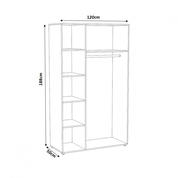 Set Complet Dormitor Corina- Dulap 3 usi - Pat 160x200 - ExpoMob [2]