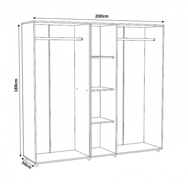 Set Complet Dormitor Corina- Dulap 5 usi - Pat 160x200 - ExpoMob 5