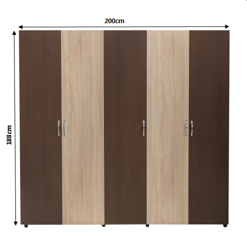 Set Complet Dormitor Corina- Dulap 5 usi - Pat 160x200 - ExpoMob 1