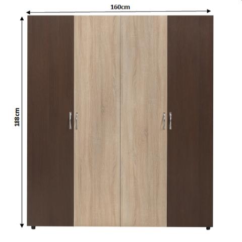 Set Complet Dormitor Corina- Dulap 4 usi - Pat 160x200 - ExpoMob 1