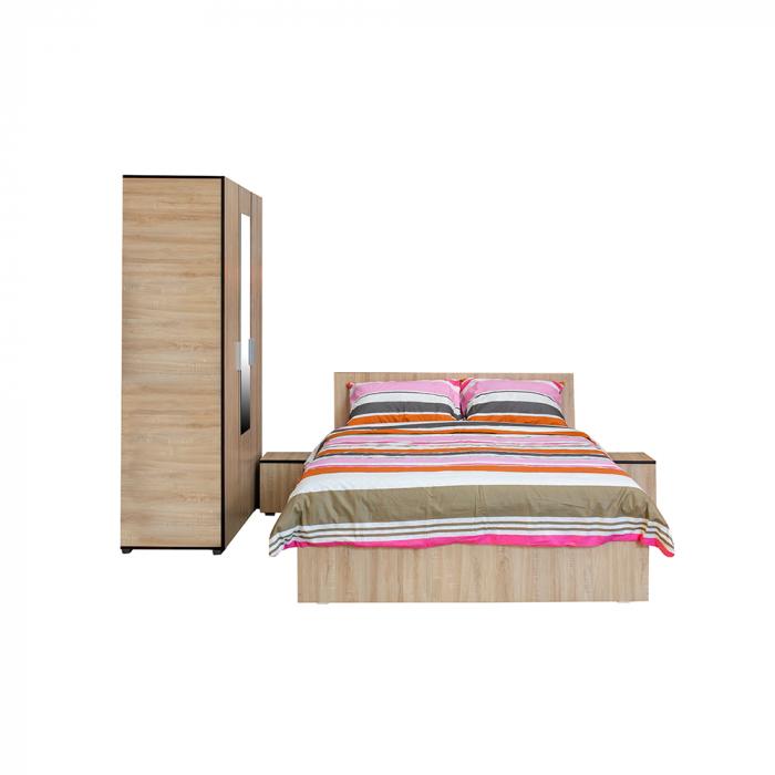 Set Complet Dormitor Corinne - Dulap 3 usi - Pat 140x200 - ExpoMob 0