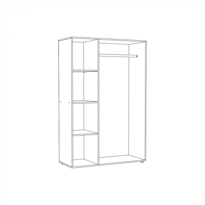Set Complet Dormitor Corina - Dulap 3 usi - Pat 140x200 si comoda - ExpoMob [3]