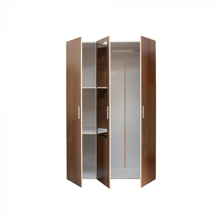 Set Complet Dormitor Corina - Dulap 3 usi - Pat 160x200 si comoda - ExpoMob 2