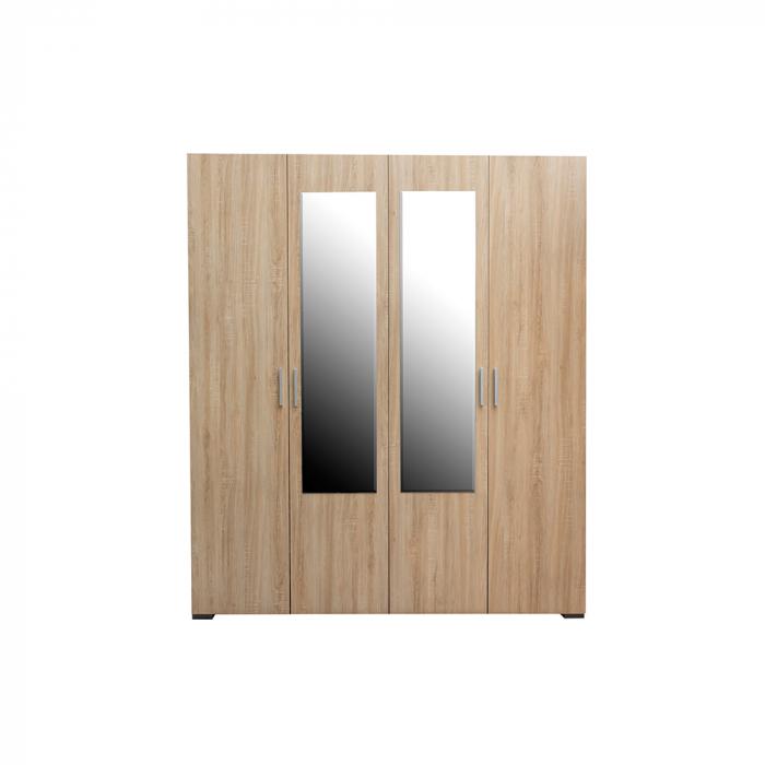 Set Complet Dormitor Corinne - Dulap 4 usi - Pat 140x200 - Comoda - ExpoMob 2