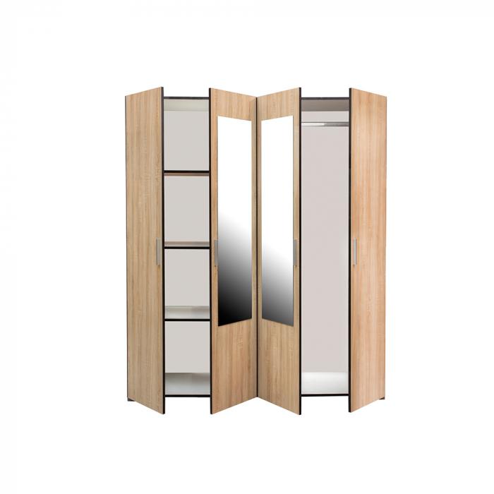 Set Complet Dormitor Corinne - Dulap 4 usi - Pat 140x200 - Comoda - ExpoMob 3