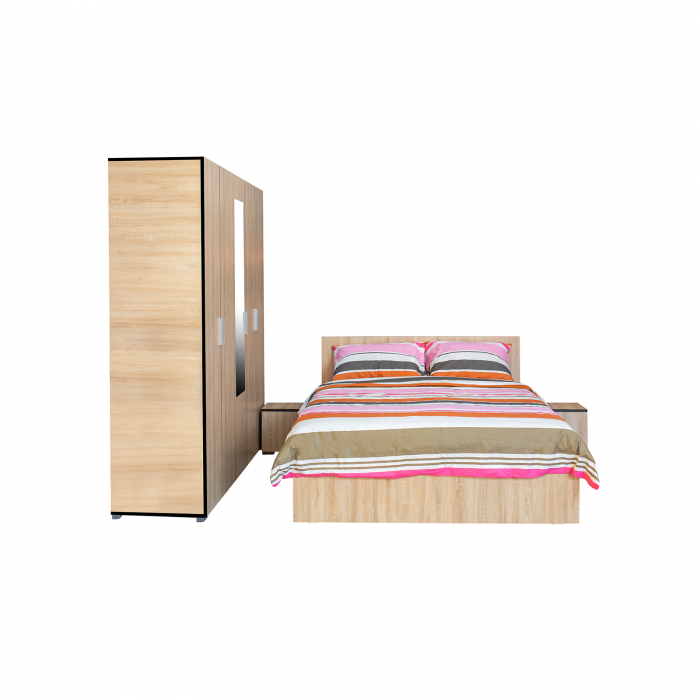 Set Complet Dormitor Corinne - Dulap 5 usi - Pat 140x200 - ExpoMob [1]