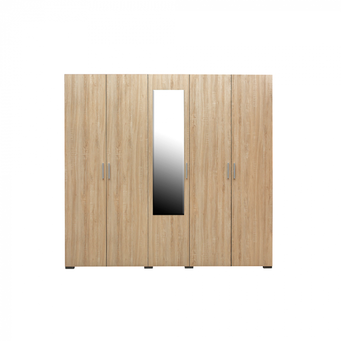 Set Complet Dormitor Corinne - Dulap 5 usi - Pat 160x200 - ExpoMob 2
