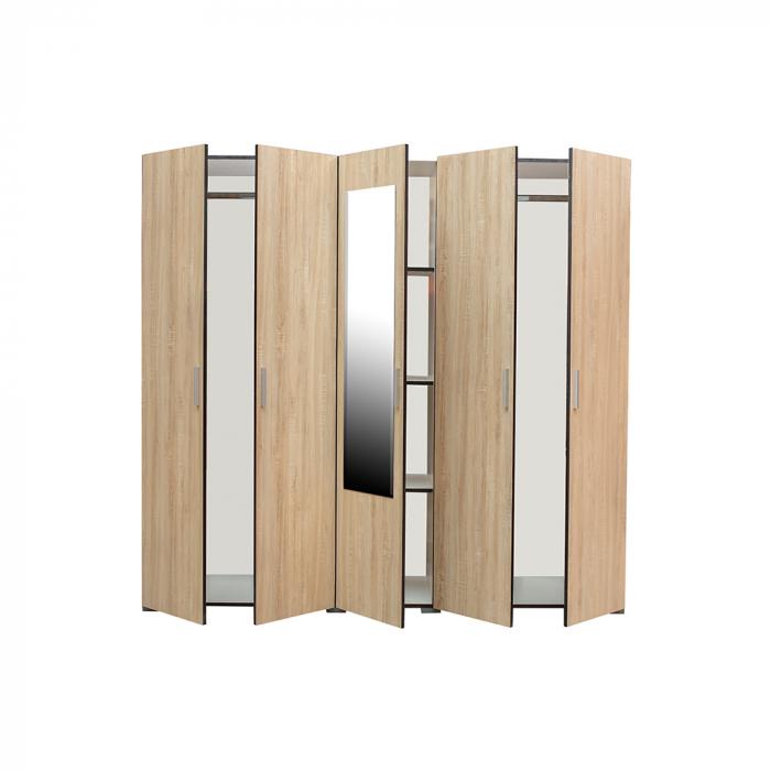 Set Complet Dormitor Corinne - Dulap 5 usi - Pat 160x200 - ExpoMob 3