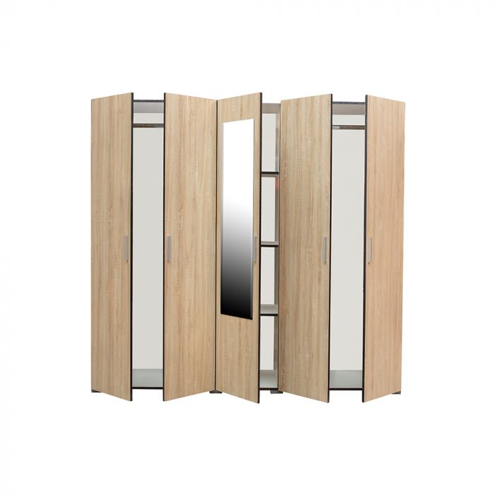 Set Complet Dormitor Corinne - Dulap 5 usi - Pat 140x200 - ExpoMob [3]