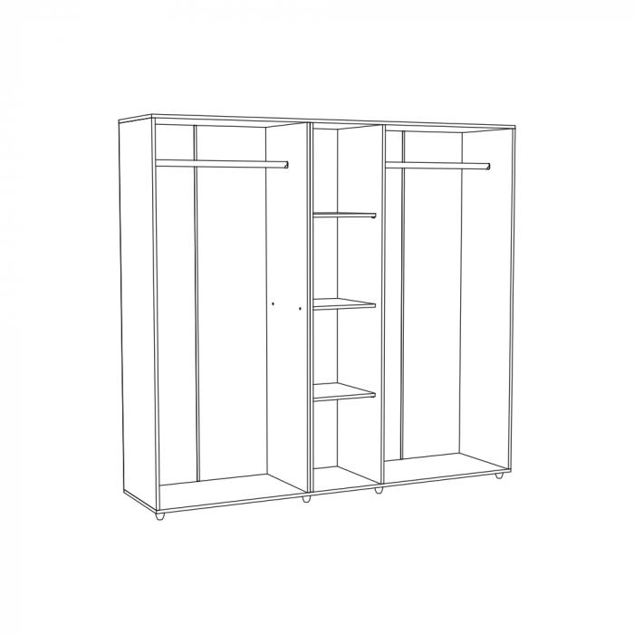 Set Complet Dormitor Corinne - Dulap 5 usi - Pat 140x200 - ExpoMob [4]