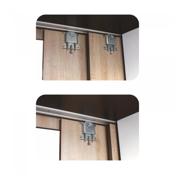 Set Complet Dormitor Corina- Dulap usi glisante - Pat 140x200 - Comoda - ExpoMob 4