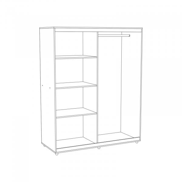 Set Complet Dormitor Corina- Dulap usi glisante - Pat 140x200 - Comoda - ExpoMob 5