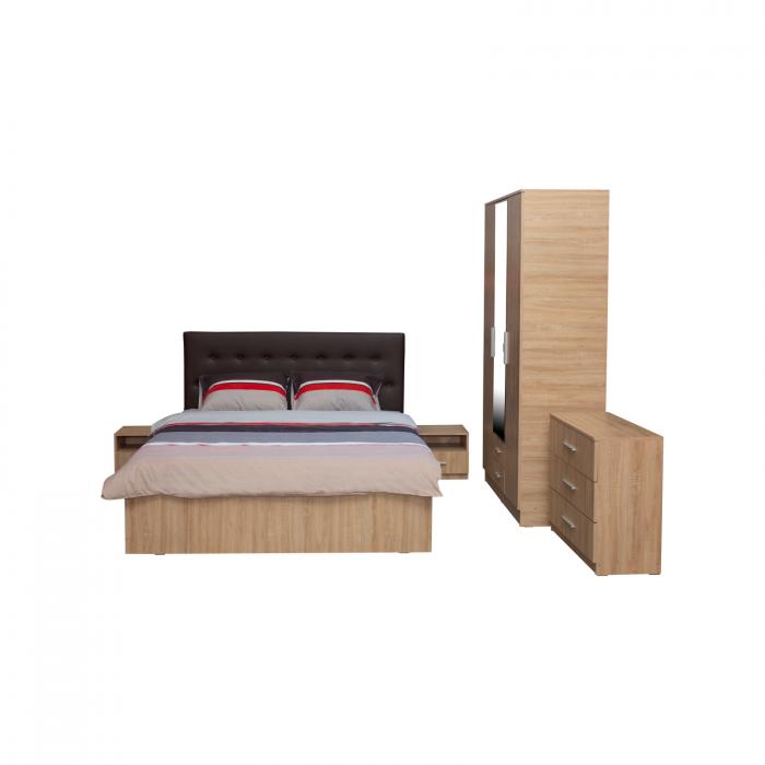 Set Dormitor Complet Ofelia II cu comoda - Dulap 3 usi -  ExpoMob [1]