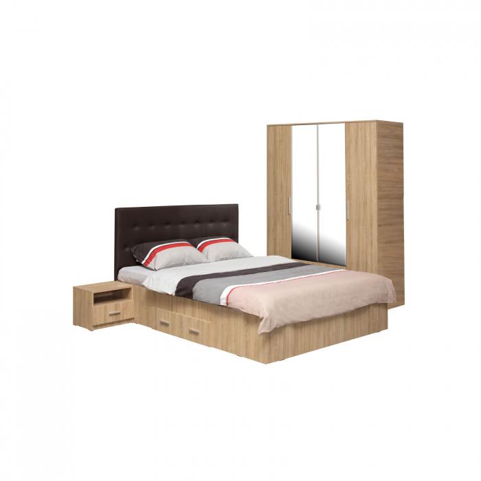 Set Dormitor Complet Ofelia fara Comoda - Dulap 4 usi -  ExpoMob 0
