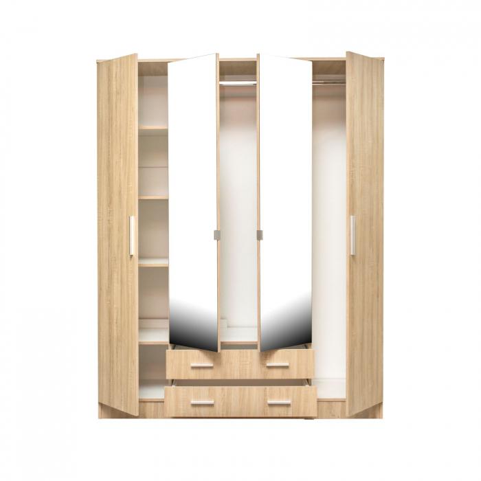 Set Dormitor Complet Ofelia fara Comoda - Dulap 4 usi -  ExpoMob 3
