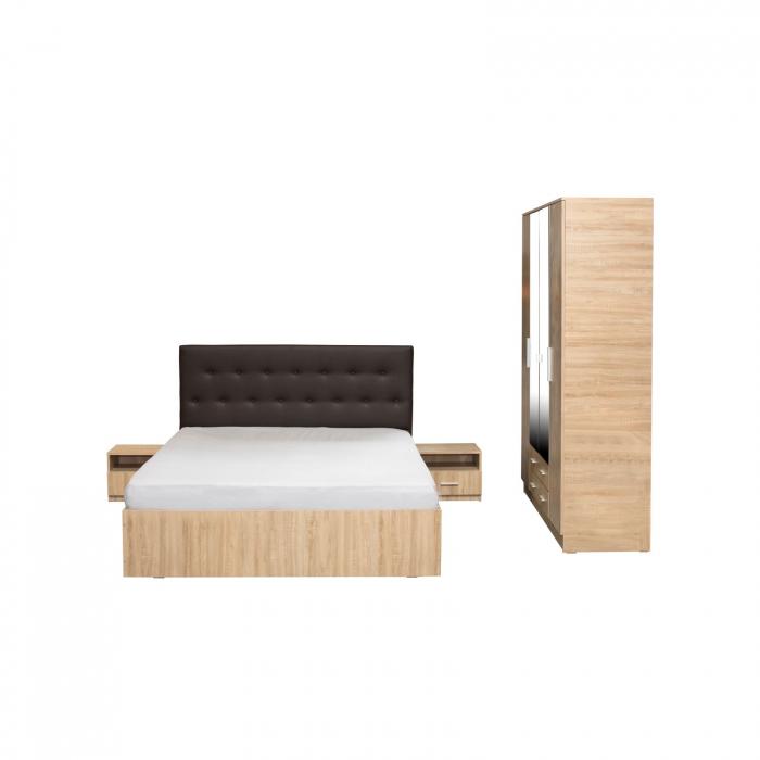 Set Dormitor Complet Ofelia fara Comoda - Dulap 4 usi -  ExpoMob 1