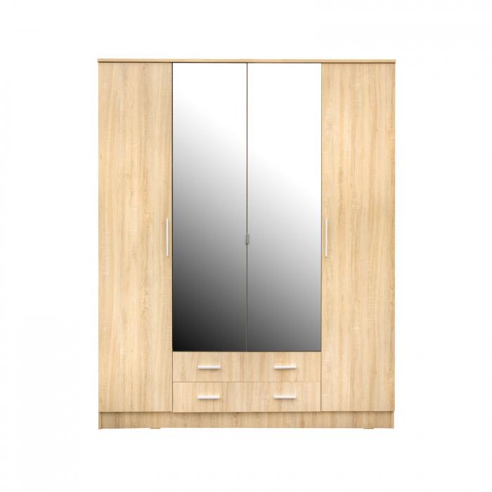 Set Dormitor Complet Ofelia fara Comoda - Dulap 4 usi -  ExpoMob 2