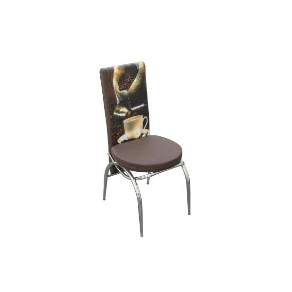 Set masa cu blat de sticla extensibila print LARA cu 6 scaune 8