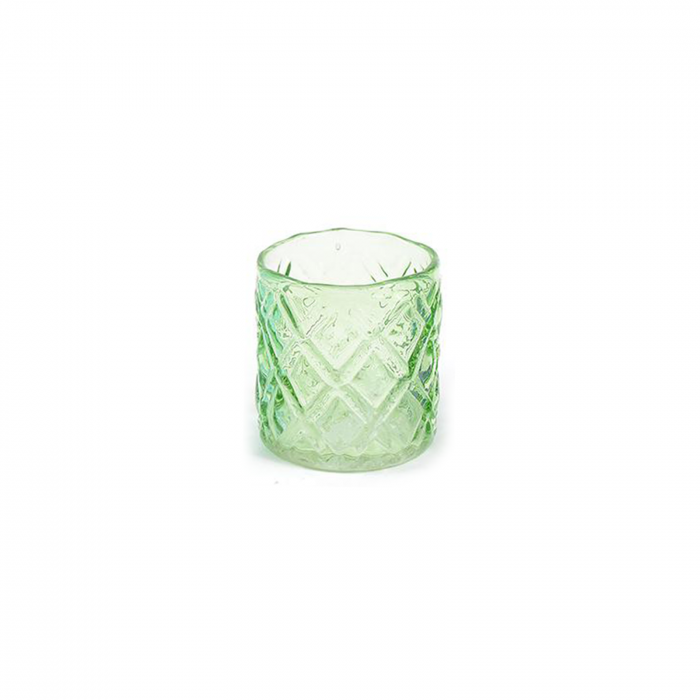 Suport candela / lumanare in vetro, diametru 8 cm, inaltime 9 cm - ExpoMob [0]