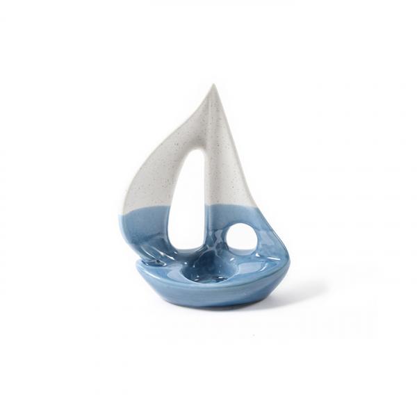 Suport lumanare decorativ, barca, portelan - Expomob 0