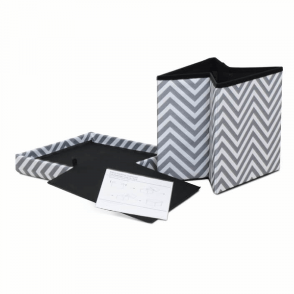 Taburet pliabil Gazmed material textil gri/alb - ExpoMob [6]