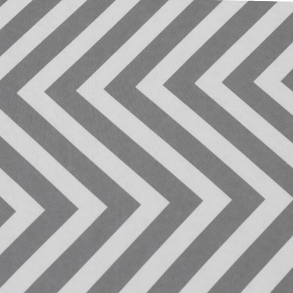Taburet pliabil Gazmed material textil gri/alb - ExpoMob [4]