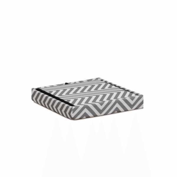 Taburet pliabil Gazmed material textil gri/alb - ExpoMob [5]