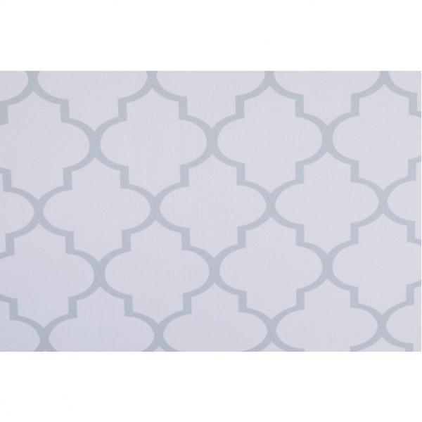 Taburet pliabil KABALA, material textil alb/gri - Expomob 9