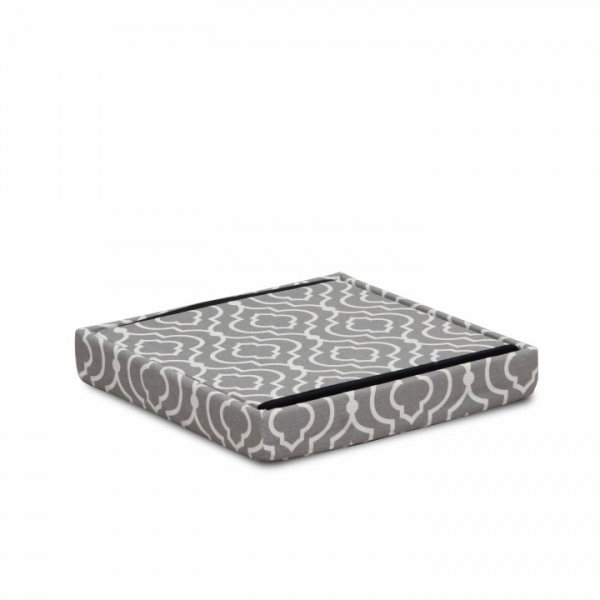 Taburet pliabil MARLO, material gri/model alb - Expomob 2