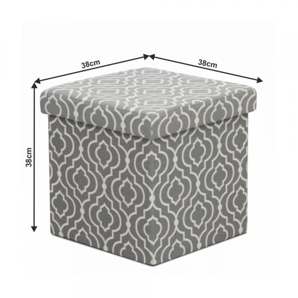 Taburet pliabil MARLO, material gri/model alb - Expomob 4