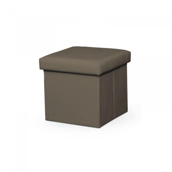 Taburet pliabil TELA NEW cu spaţiu stocare, piele ecologica - Expomob 7