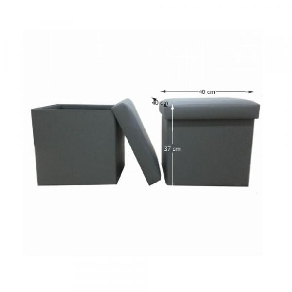 Taburet pliabil TELA NEW cu spaţiu stocare, piele ecologica - Expomob 5