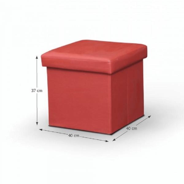 Taburet pliabil TELA NEW cu spaţiu stocare, piele ecologica - Expomob 3