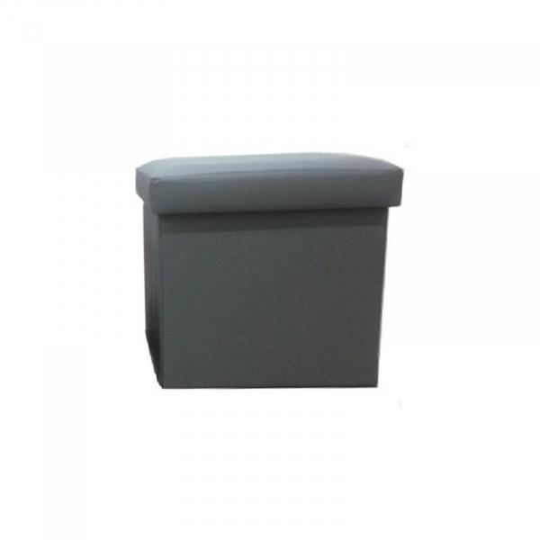 Taburet pliabil TELA NEW cu spaţiu stocare, piele ecologica - Expomob 4