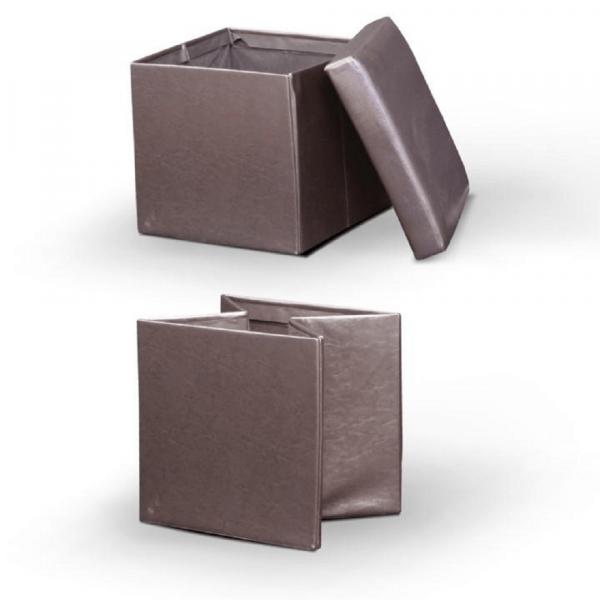 Taburet pliabil TELA NEW cu spaţiu stocare, piele ecologica - Expomob 11
