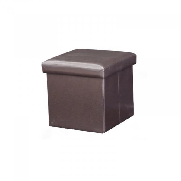 Taburet pliabil TELA NEW cu spaţiu stocare, piele ecologica - Expomob 6