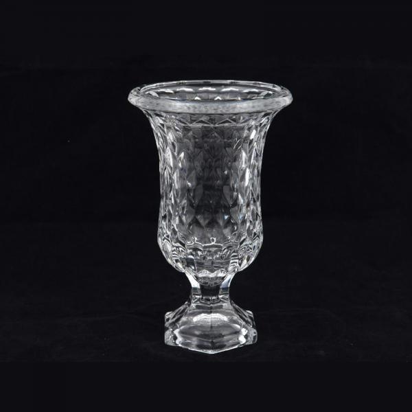 Vaza sticla DOMIZIA, diametru 15 cm, inaltime 23,5 cm - ExpoMob 0