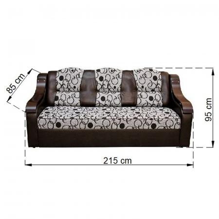 Canapea C3M LUX, extensie pe cadru metalic, relaxa3
