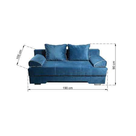 Canapea LUXEMBURG, extensibila, relaxa, cu lada depozitare6