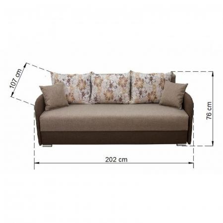 Canapea MARINA, extensibila, relaxa, cu lada depozitare3